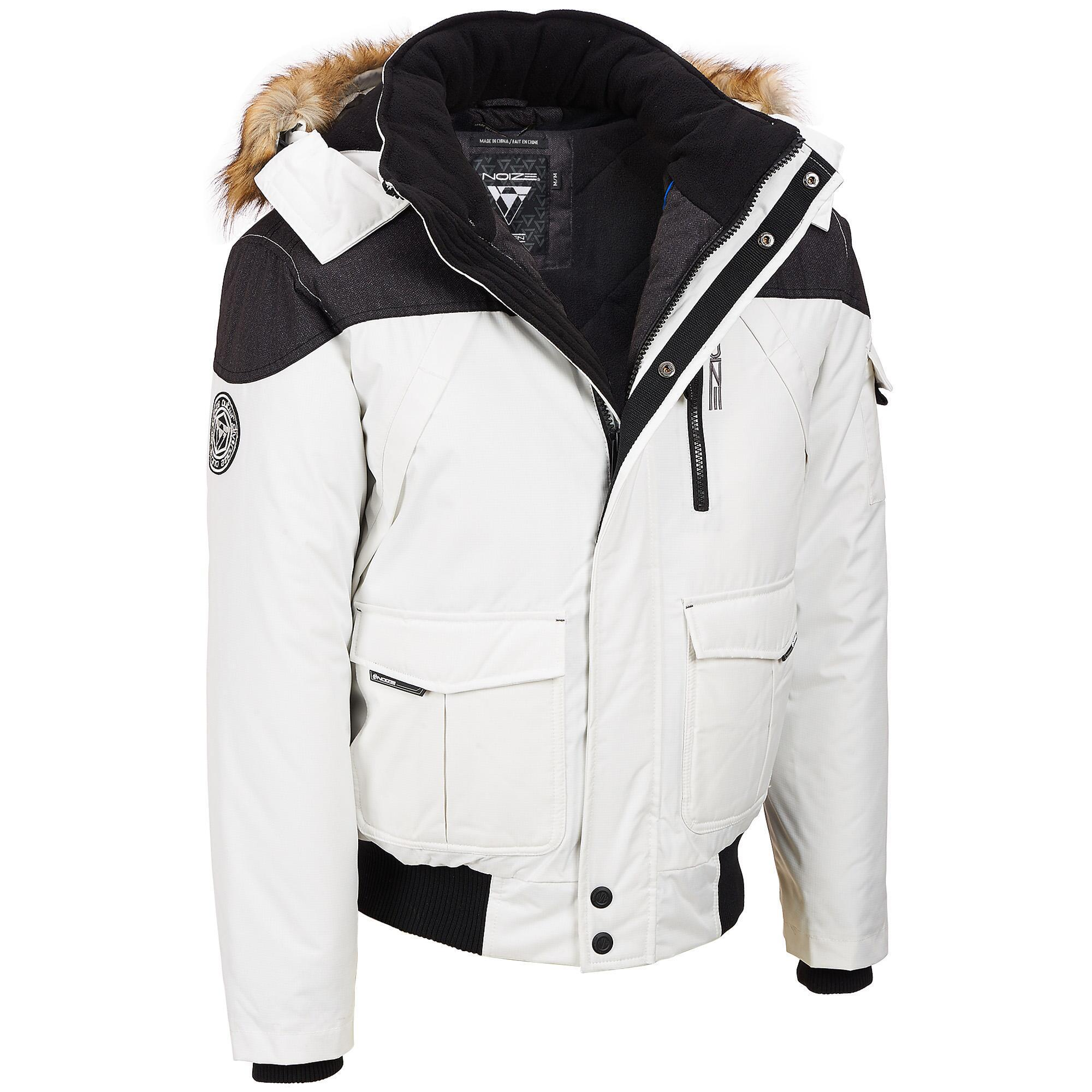 a82e5749c Wilsons Leather Noize Fabric Bomber W/ Faux Fur Trim in White for ...