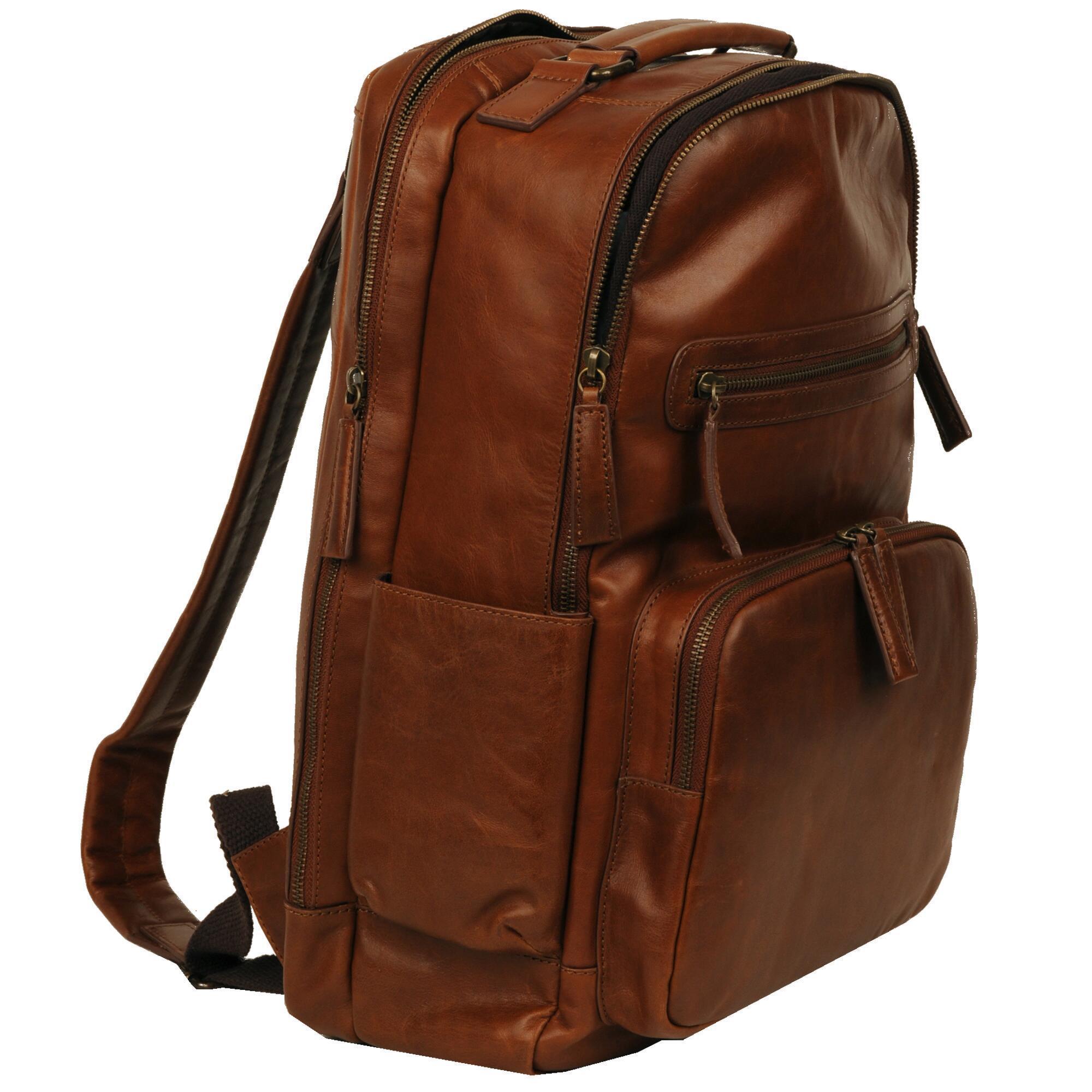 Vintage Leather Crunch Backpack