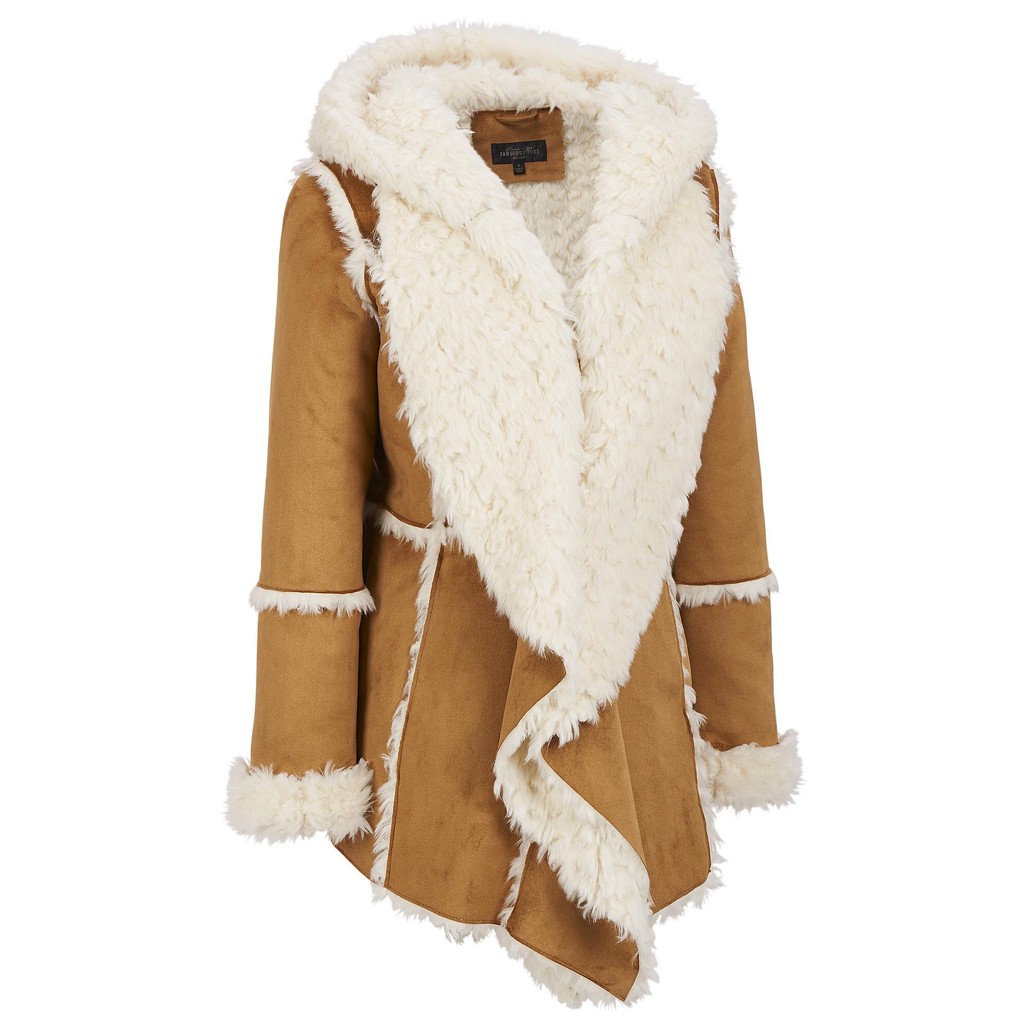 Black rivet rabbit fur jacket
