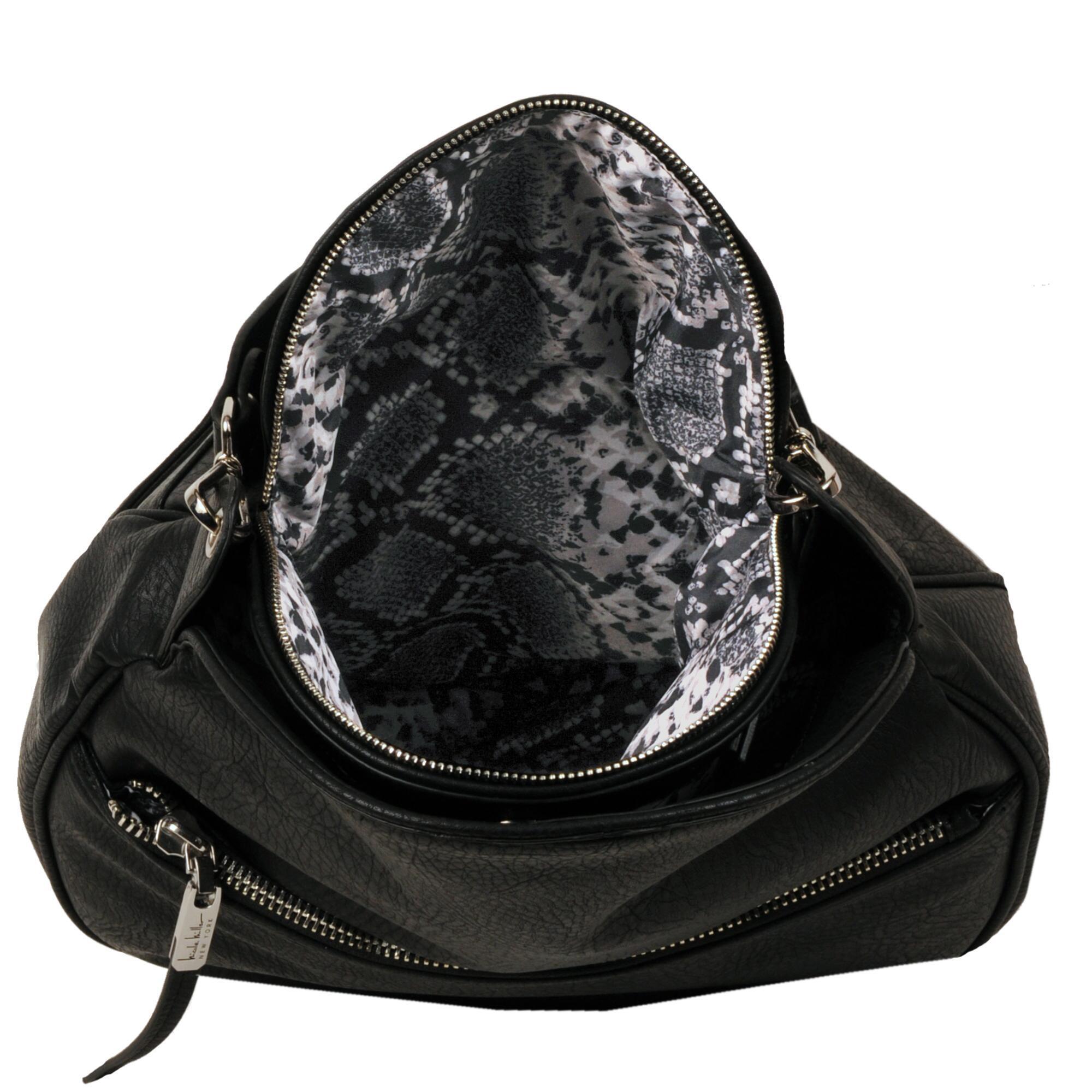 Wilsons Leather Black Nicole Miller Newport Hobo Faux Handbag Lyst View Fullscreen