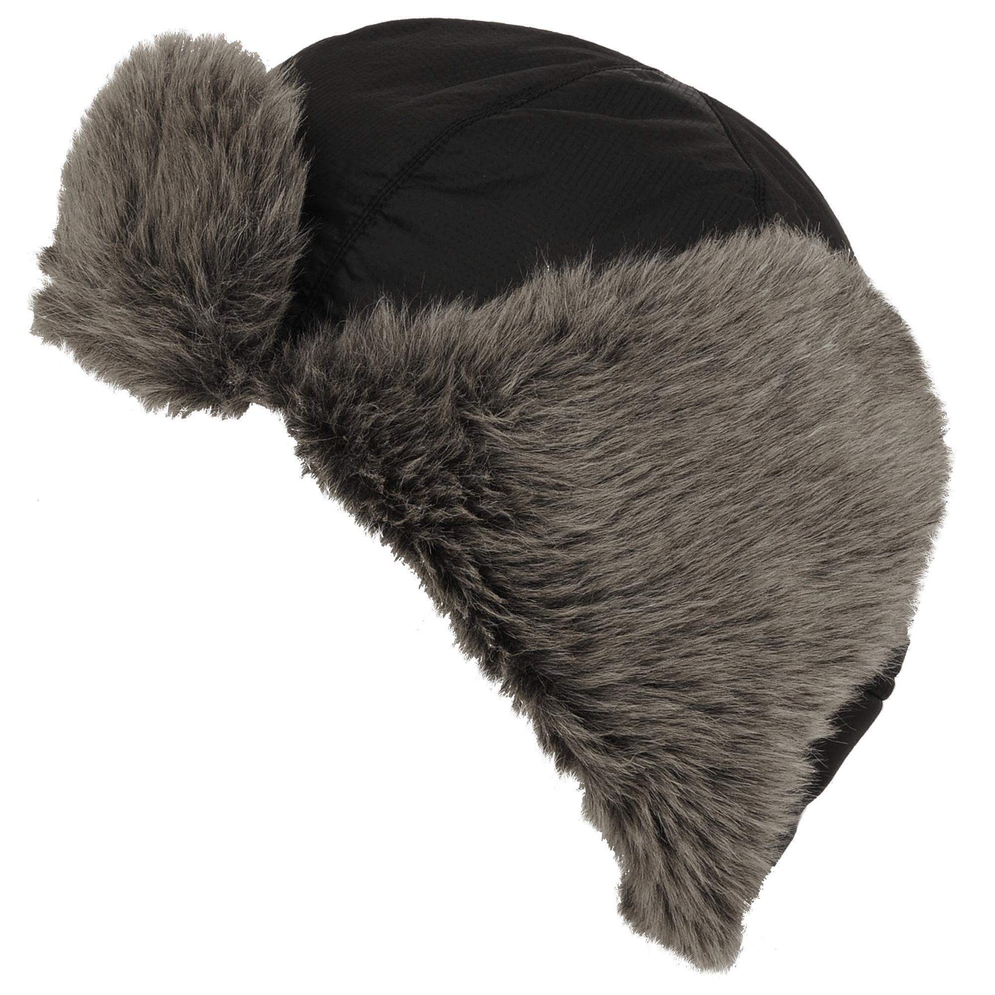 00177a559bdec Wilsons Leather - Black Ripstop Nylon Trapper Hat W  Faux-fur for Men -.  View fullscreen