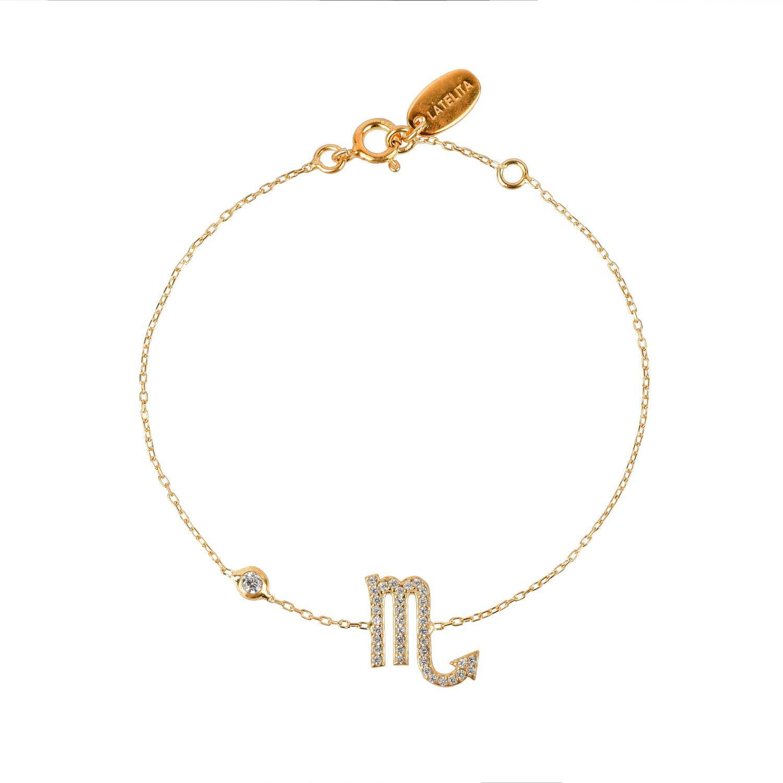 Latelita London Aquarius Zodiac Bracelet Gold DxE2y