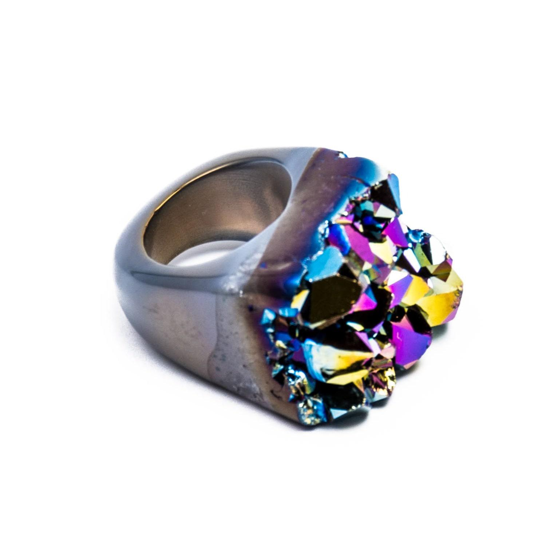 Tiana Jewel Ember Metallic Blue Ring Moro Collection