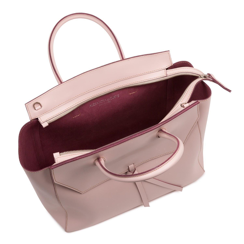 Alexandra De Curtis Leather Loren Tote Blush Pink