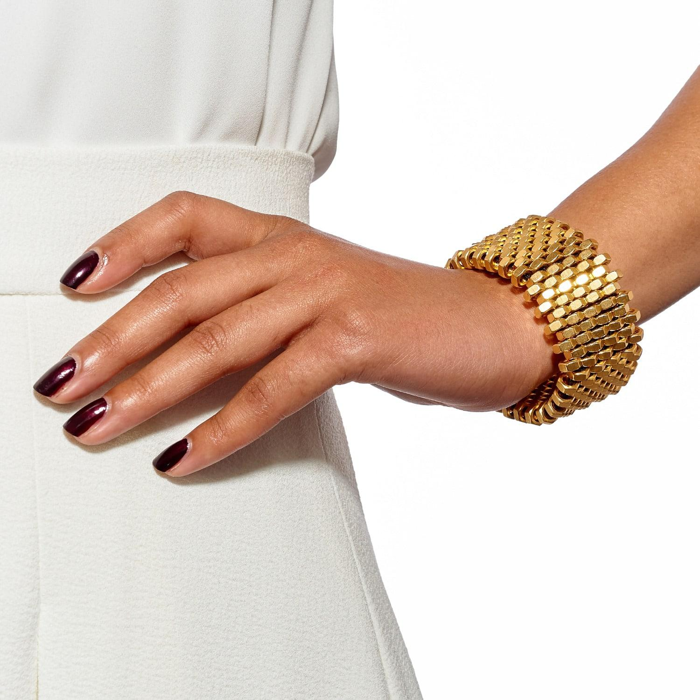 Alice Menter Ruby Gold Cuff in Metallic