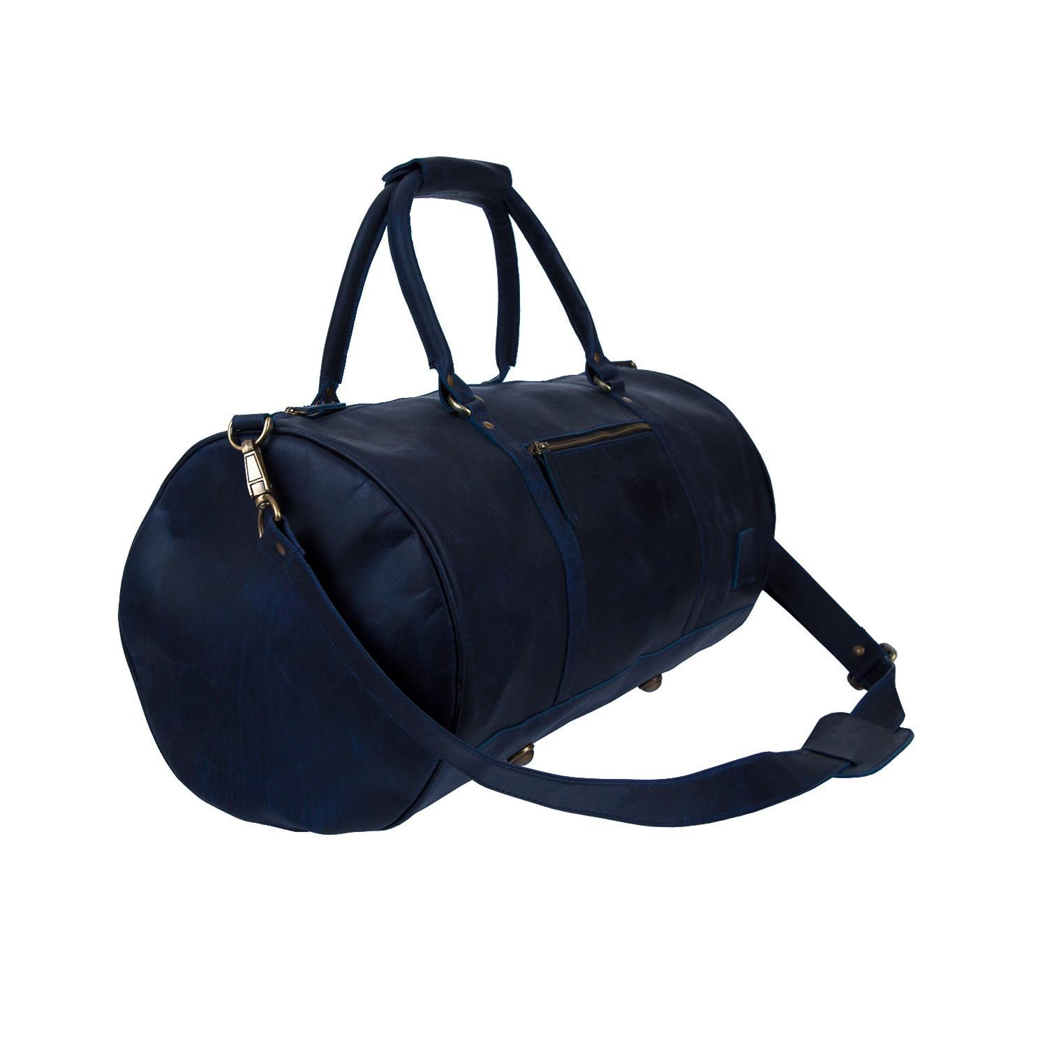 36a90670bdb Mahi Leather Leather Weekend Classic Duffle Bag In Navy in Blue for ...