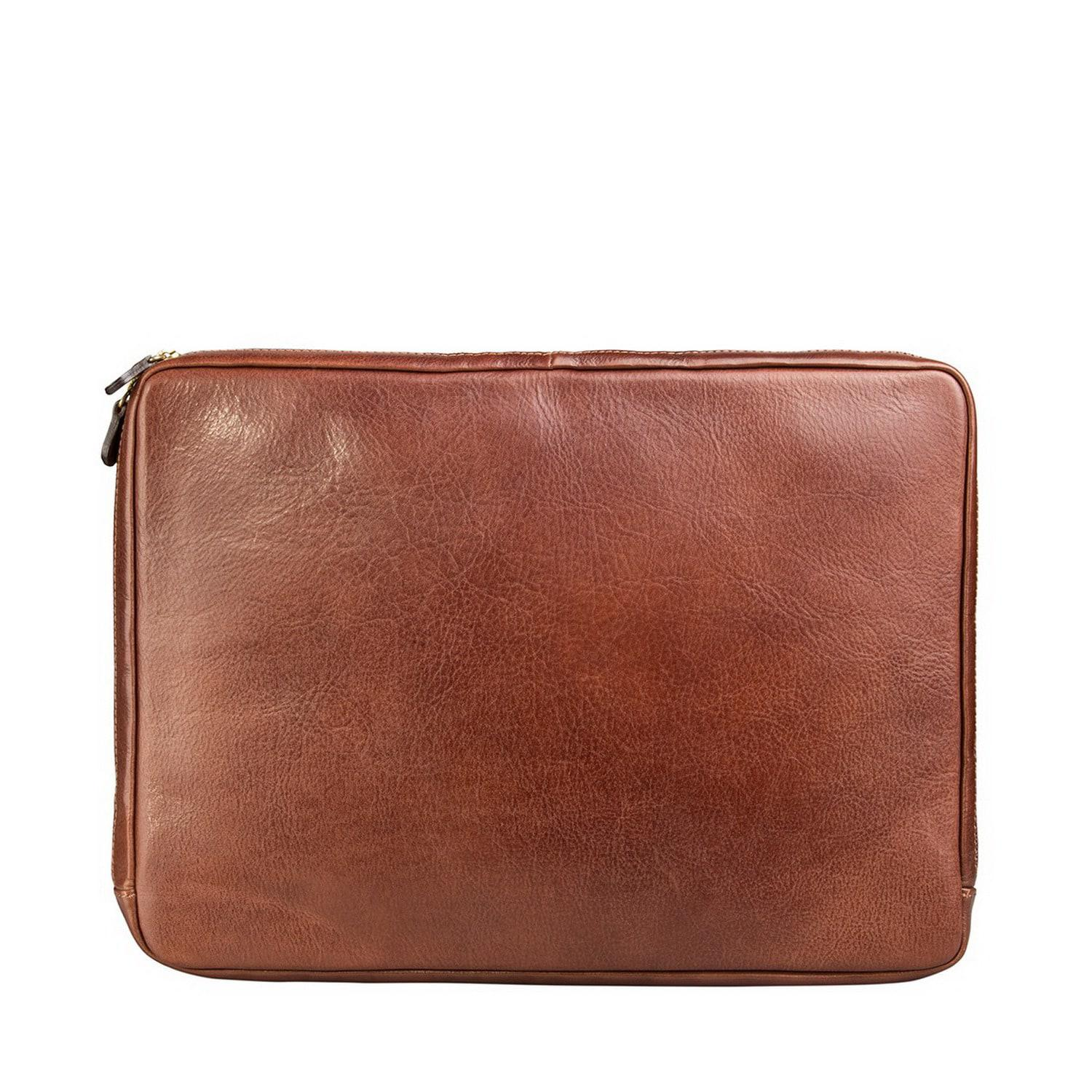 lyst maxwell scott bags luxury tan 14 inch laptop sleeve the bovino in brown for men. Black Bedroom Furniture Sets. Home Design Ideas