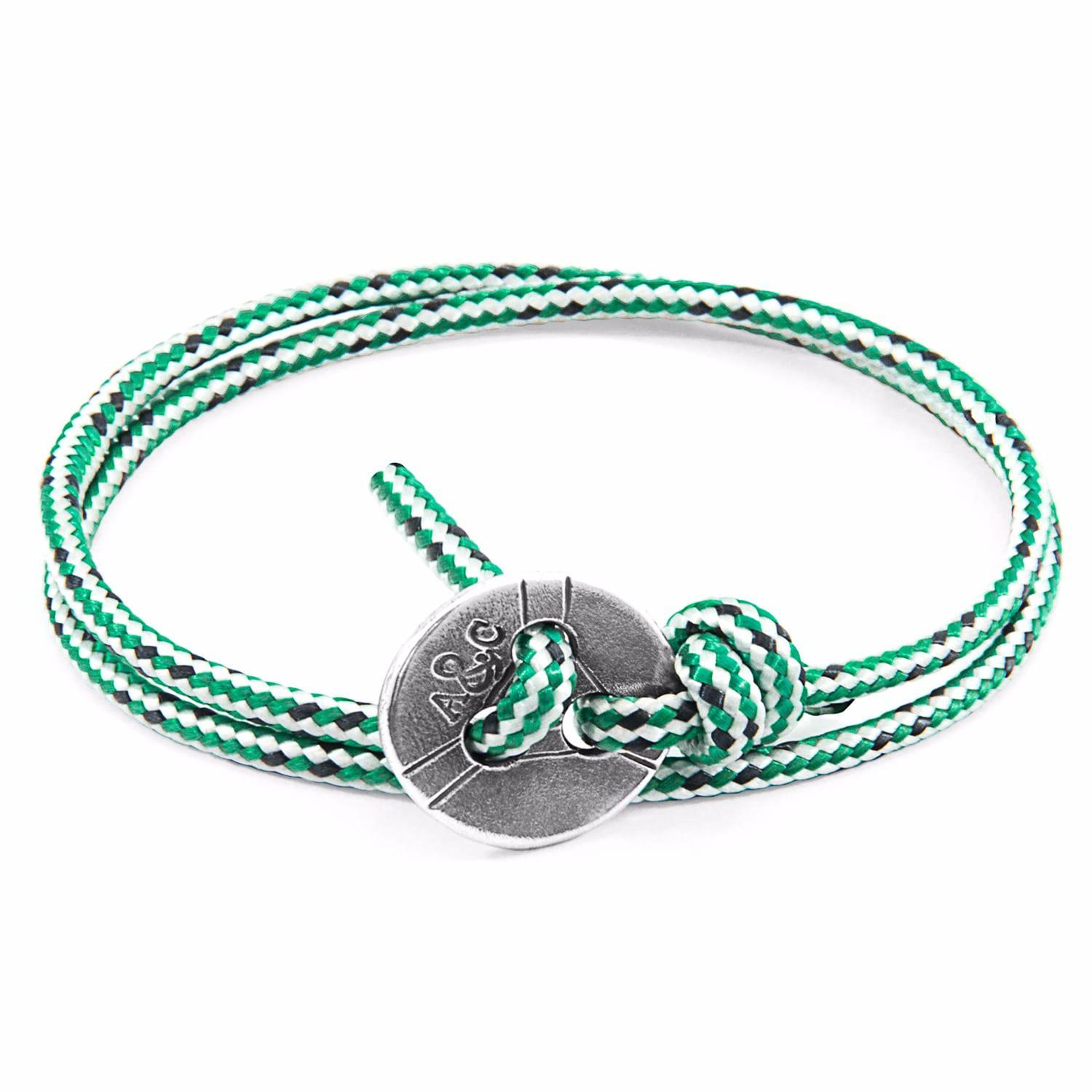Anchor & Crew Blue Paignton Silver and Rope Bracelet NrxeybJ