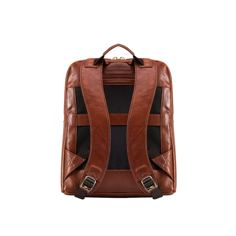 """Jekyll & Hide Leather Madrid 15"""" Backpack in Brown"""