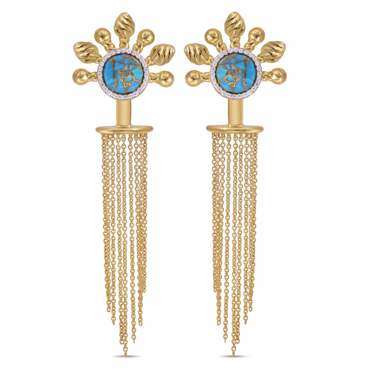 Lyst Lmj Floating Rays Detachable Earrings in Metallic