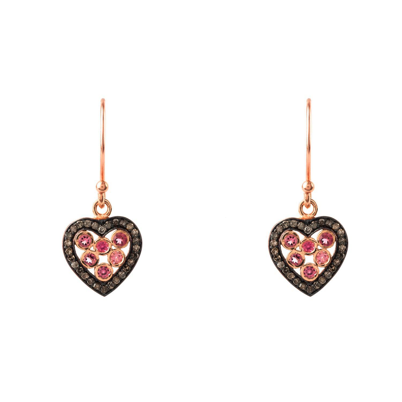Latelita London Diamond Double Hoop Heart Earring y5veSUh