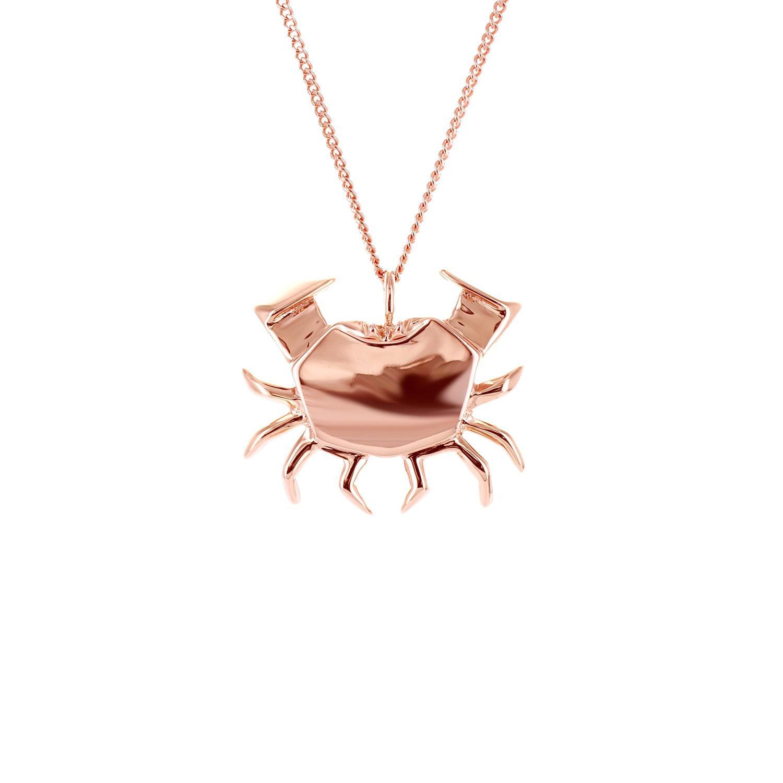 Origami Jewellery Sterling Silver Crab Necklace U3mInuV4u