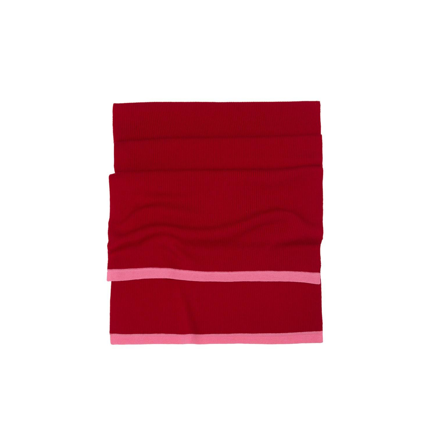 Lyst - Ille De Cocos Merino Long Scarf Cherry Red   Flamingo Pink in Red fa45f5731658