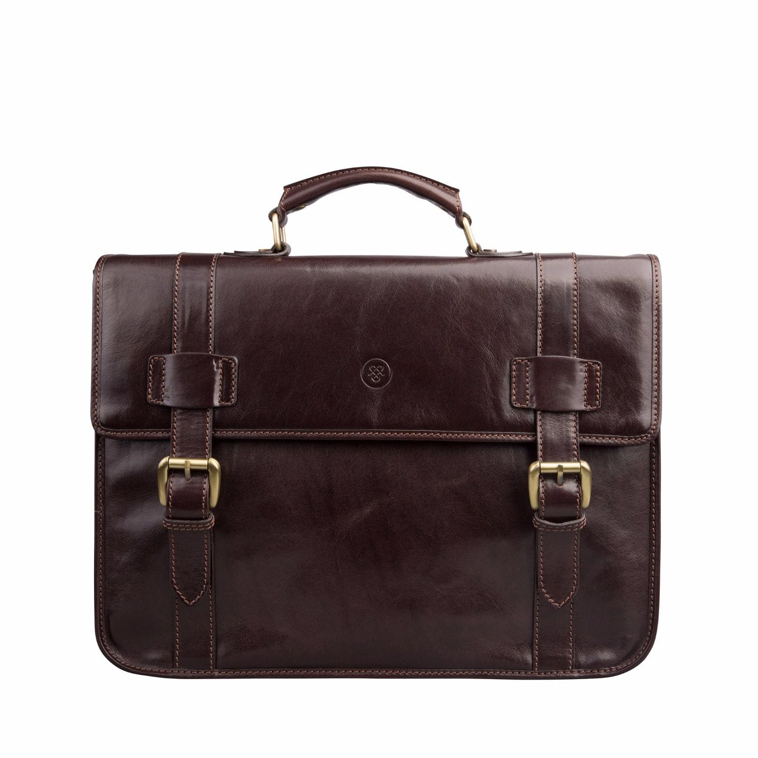lyst maxwell scott bags the micheli mens leather backback briefcase chocolate brown in brown. Black Bedroom Furniture Sets. Home Design Ideas