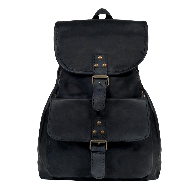 Mahi Leather Leather Explorer Backpack rucksack Womens In Ebony ... bf5b92cd8f6d6