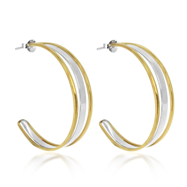 Maya Magal charm hoop earrings - Metallic 37i0Kwy2rd