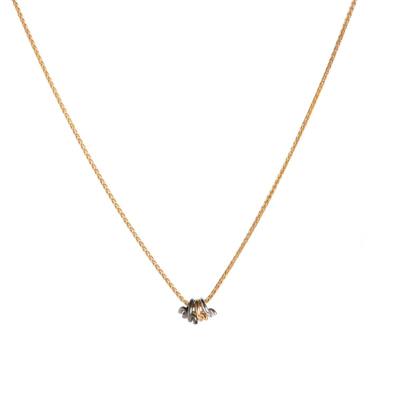 Dutch Basics Rose Gold Circle Pendant Necklace tLWkQcm