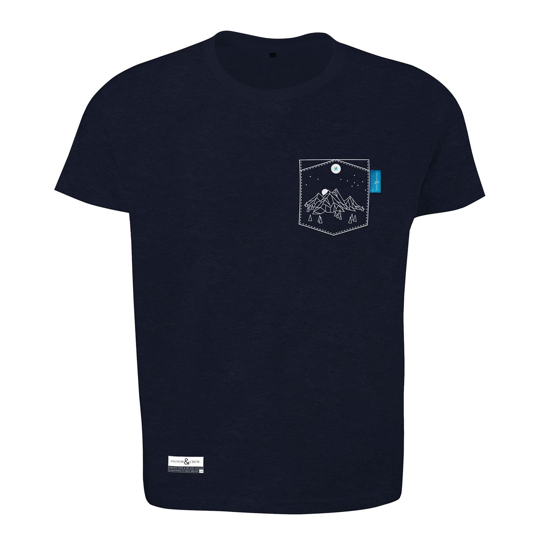Lyst anchor crew oxford blue horizon print organic for T shirt printing oxford