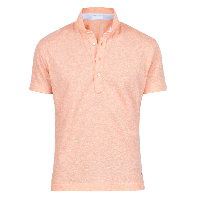 Lyst coast society scott orange polo shirt in orange for men for Orange polo shirt mens