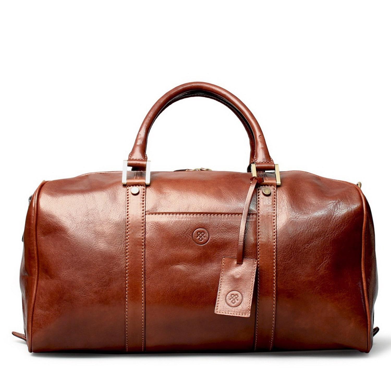 Maxwell scott bags Luxury Italian Leather Small Travel Bag ...