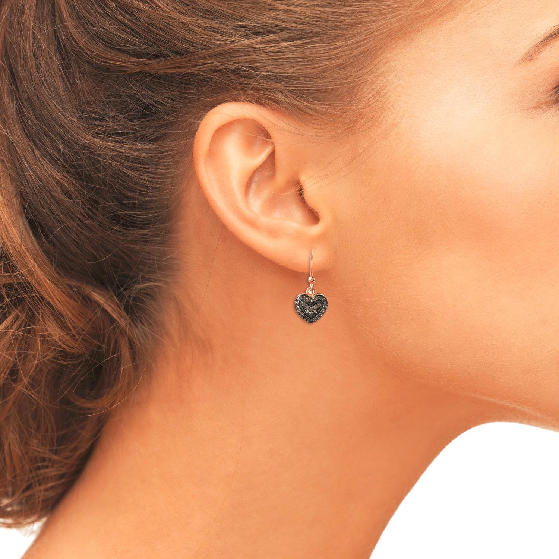 LÁTELITA London Diamond Petite Heart Drop Earring