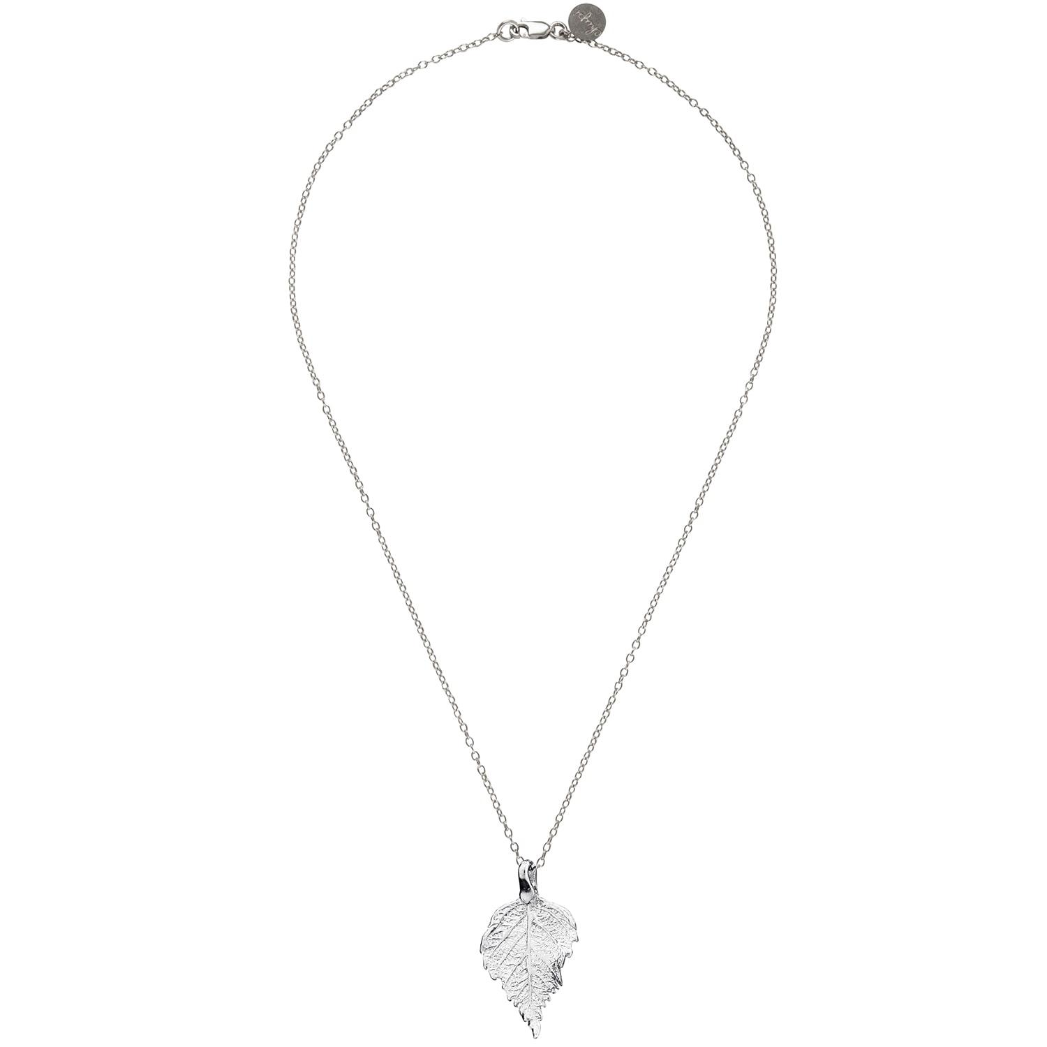 Chupi The Sweetest Thing Tiny Raspberry Leaf Necklace Silver in Metallic