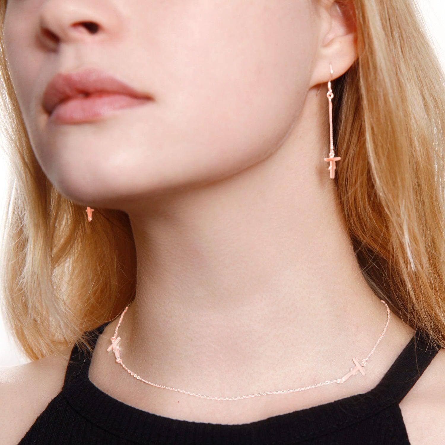 Tissuville Ikon Necklace Rose Gold