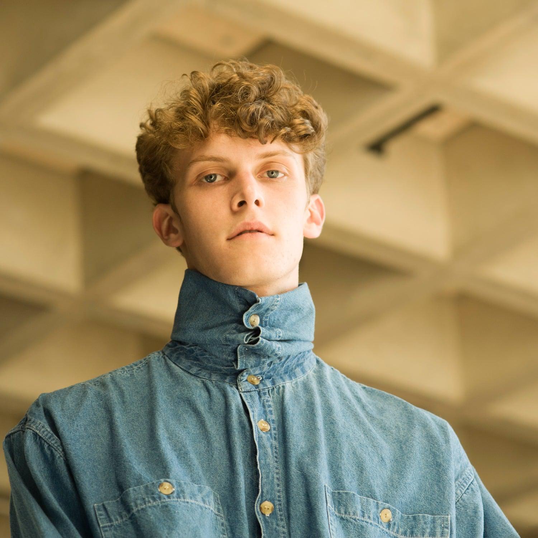 W.Y.L.D.E. Paris Denim Shirt With Turtle Neck in Blue for Men