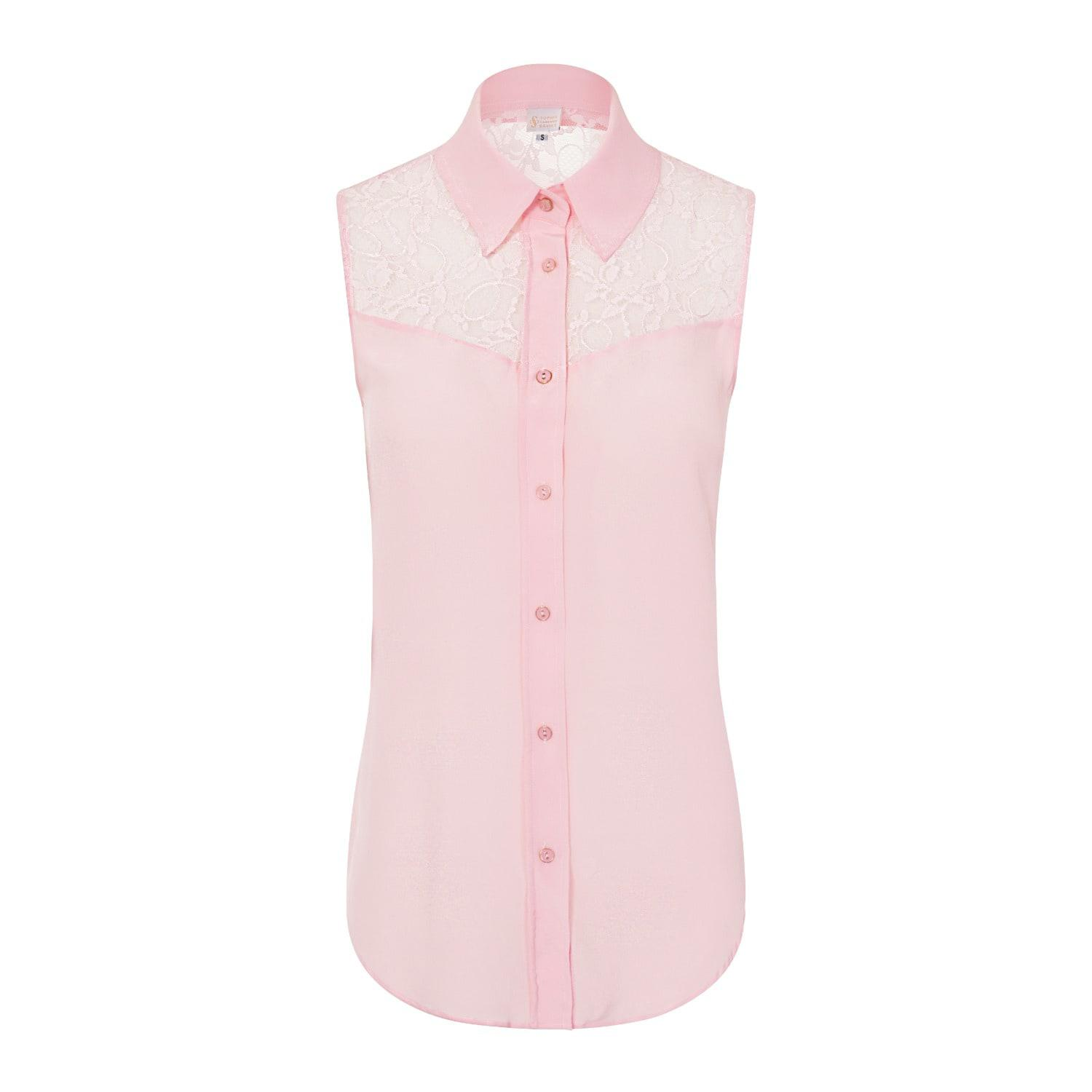 bc8ee24e029501 Lyst - Sophie Cameron Davies Pale Pink Silk Classic Top in Pink