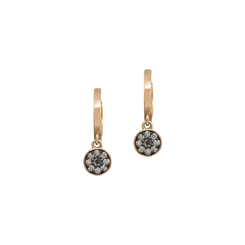 Jezebel London 14kt Rose Gold & Black Diamond Sloane Stud Earring Single UoKnUG1vFK