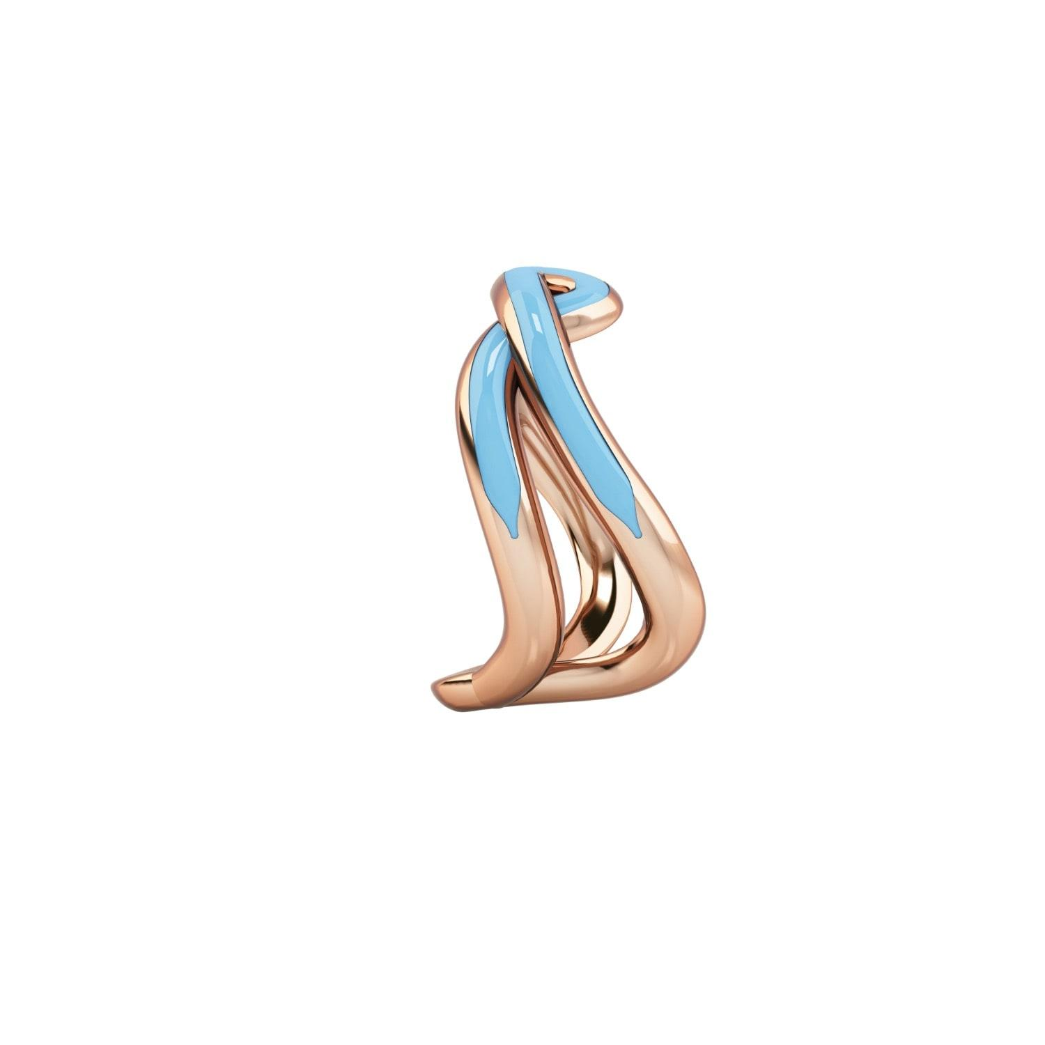 1986 Wiggle Wiggle Thread Ring Baby Blue & Rose