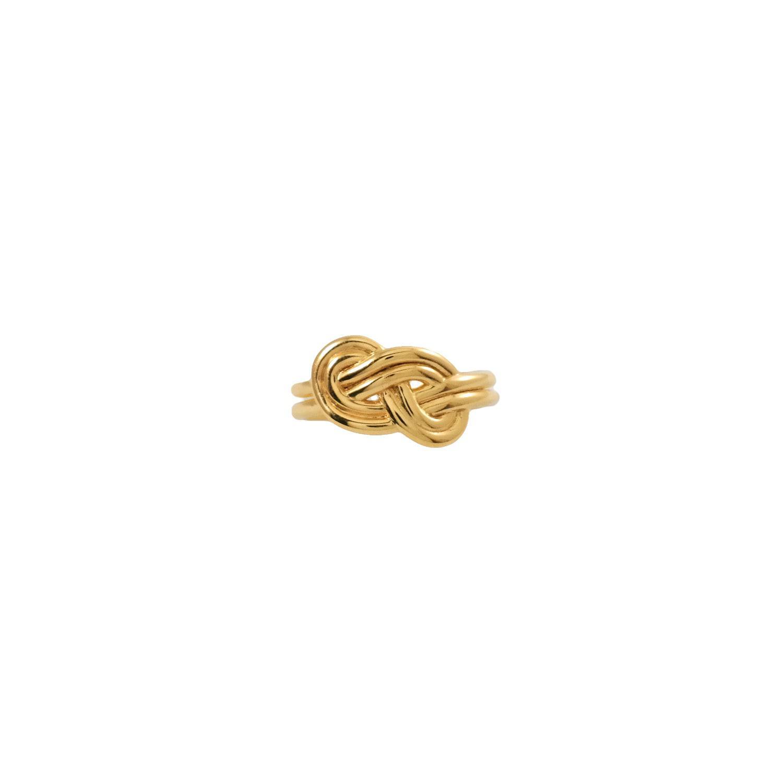 MARIE JUNETM Jewelry Metallic Figure 8 Knot Gold Ring