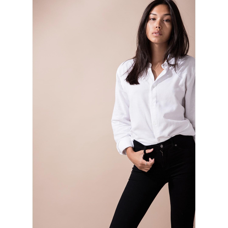 0d830b338ad ... Women's Tall Button Up White Shirt - Lyst. View fullscreen