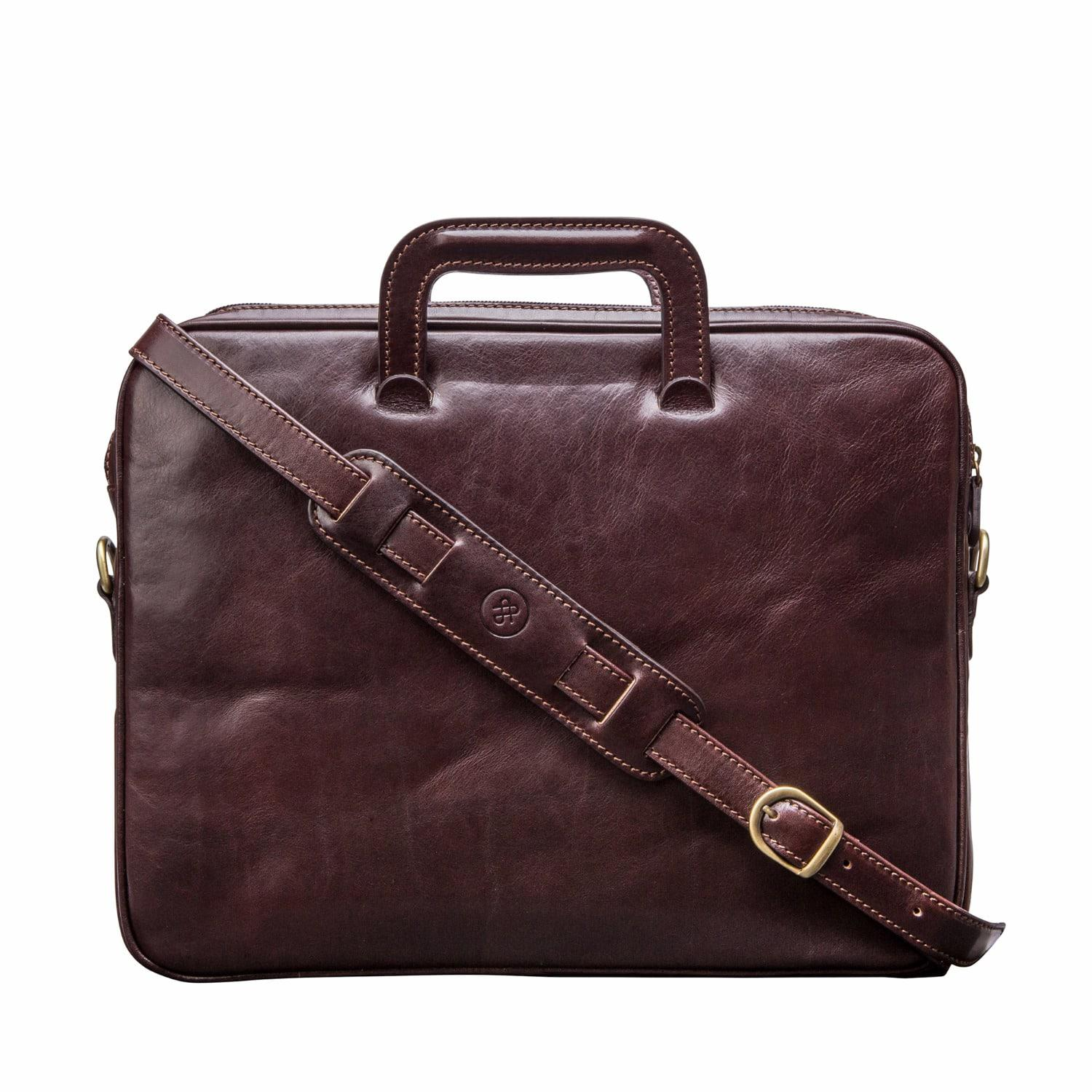 lyst maxwell scott bags tutti handcrafted fine leather document case chocolate brown in brown. Black Bedroom Furniture Sets. Home Design Ideas