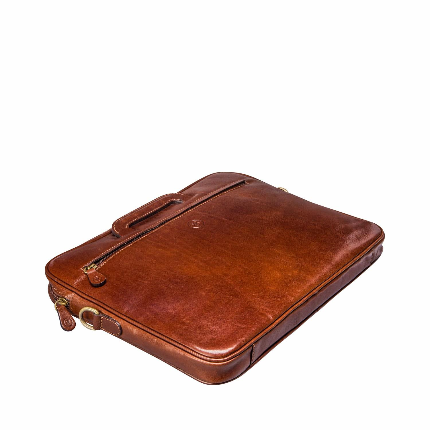 lyst maxwell scott bags the tutti fine leather document case chestnut tan in brown for men. Black Bedroom Furniture Sets. Home Design Ideas