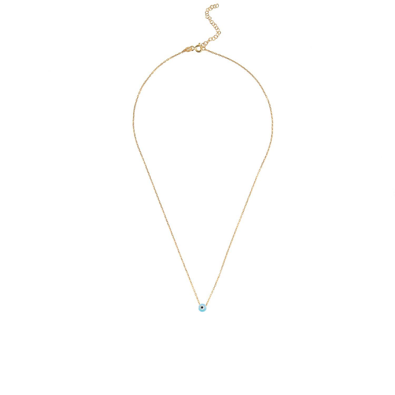 LÁTELITA London Evil Eye Mini Opalite Pendant Necklace Gold in Gold / Blue (Metallic)