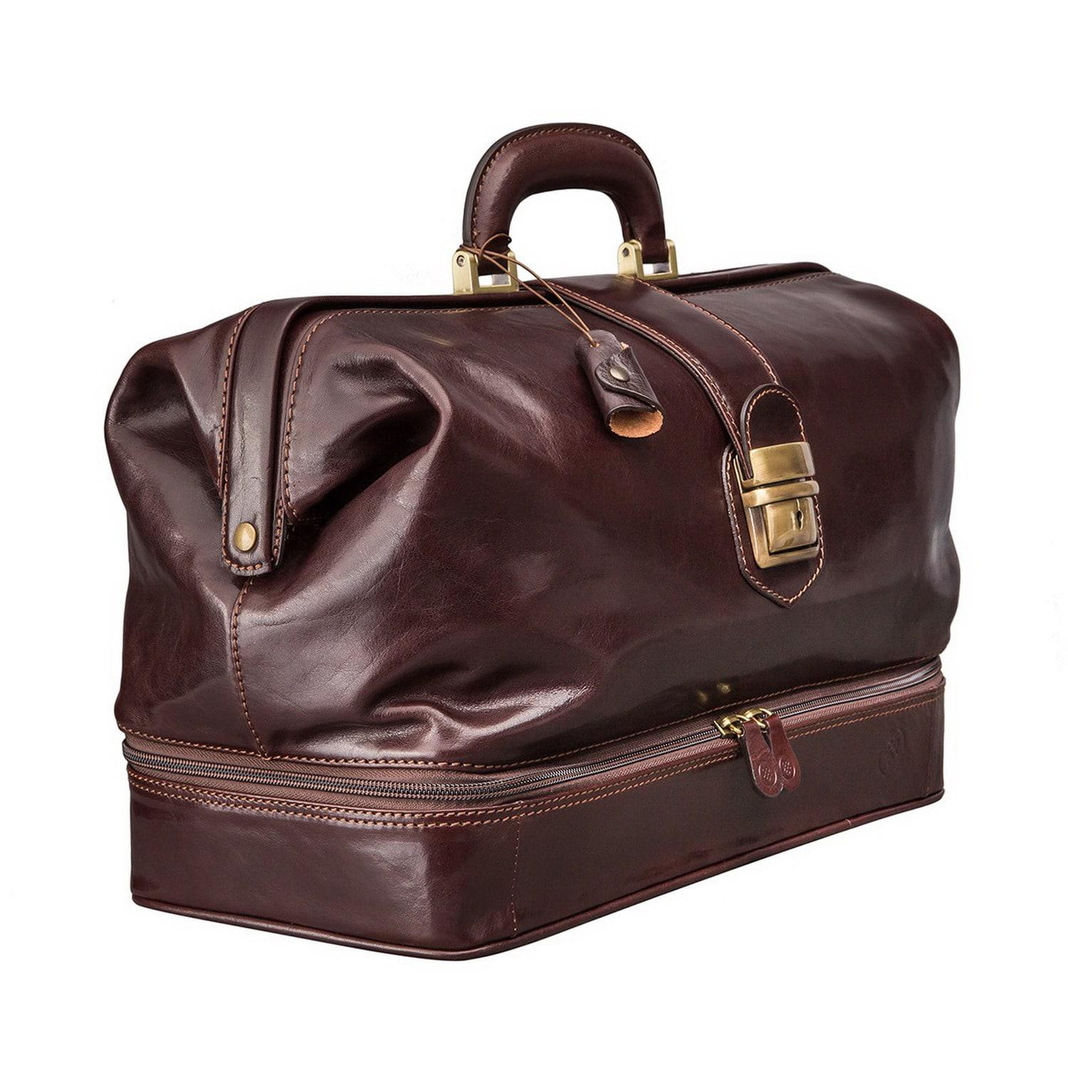 lyst maxwell scott bags luxury italian leather doctor bag large donnini dark chocolate brown. Black Bedroom Furniture Sets. Home Design Ideas
