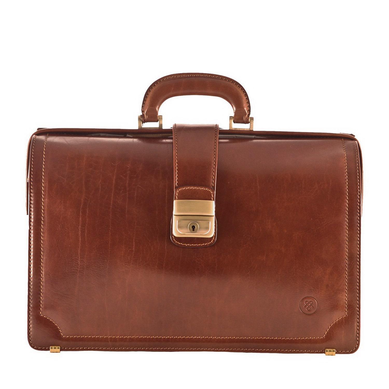 Maxwell Scott Bags Luxury Italian Leather Executive