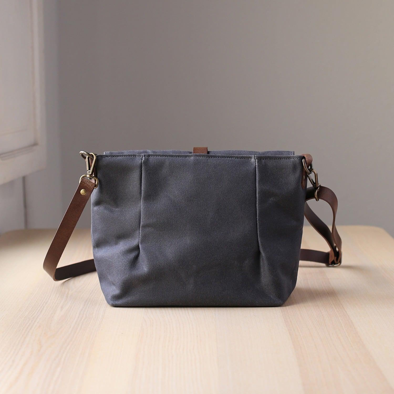 Lyst Bag Waxed Canvas Gray Dorayaky Grey Greta In rwqXnrBR1
