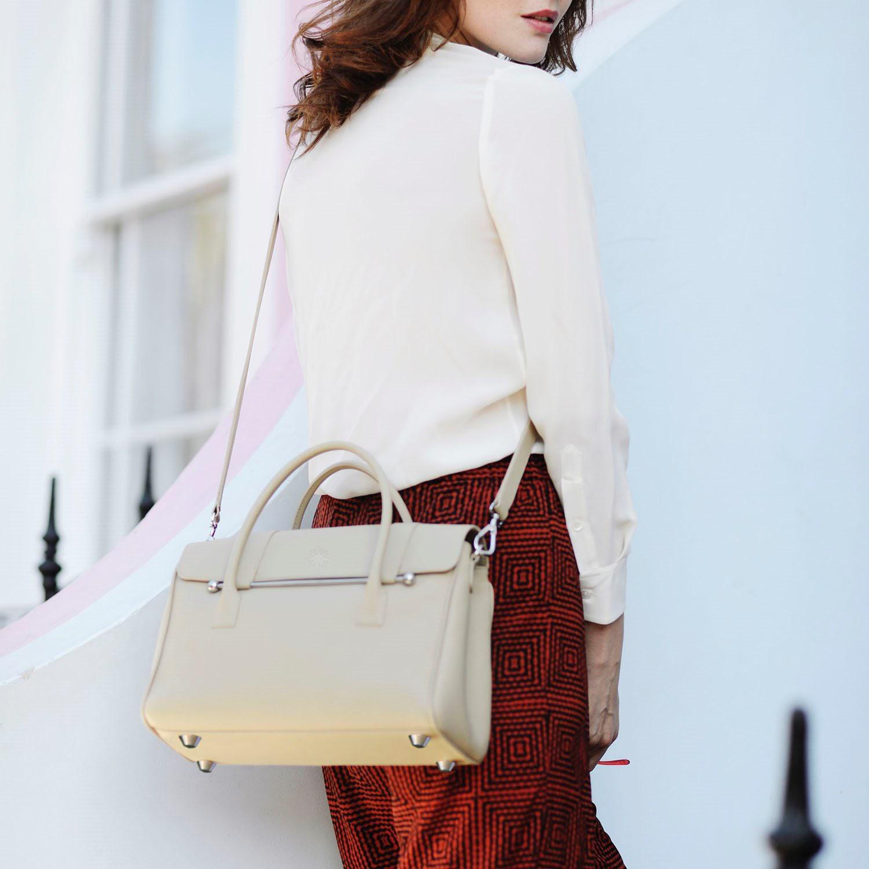 Jardine Of London Cotton The Small Queen Cross-body Bag In Cream