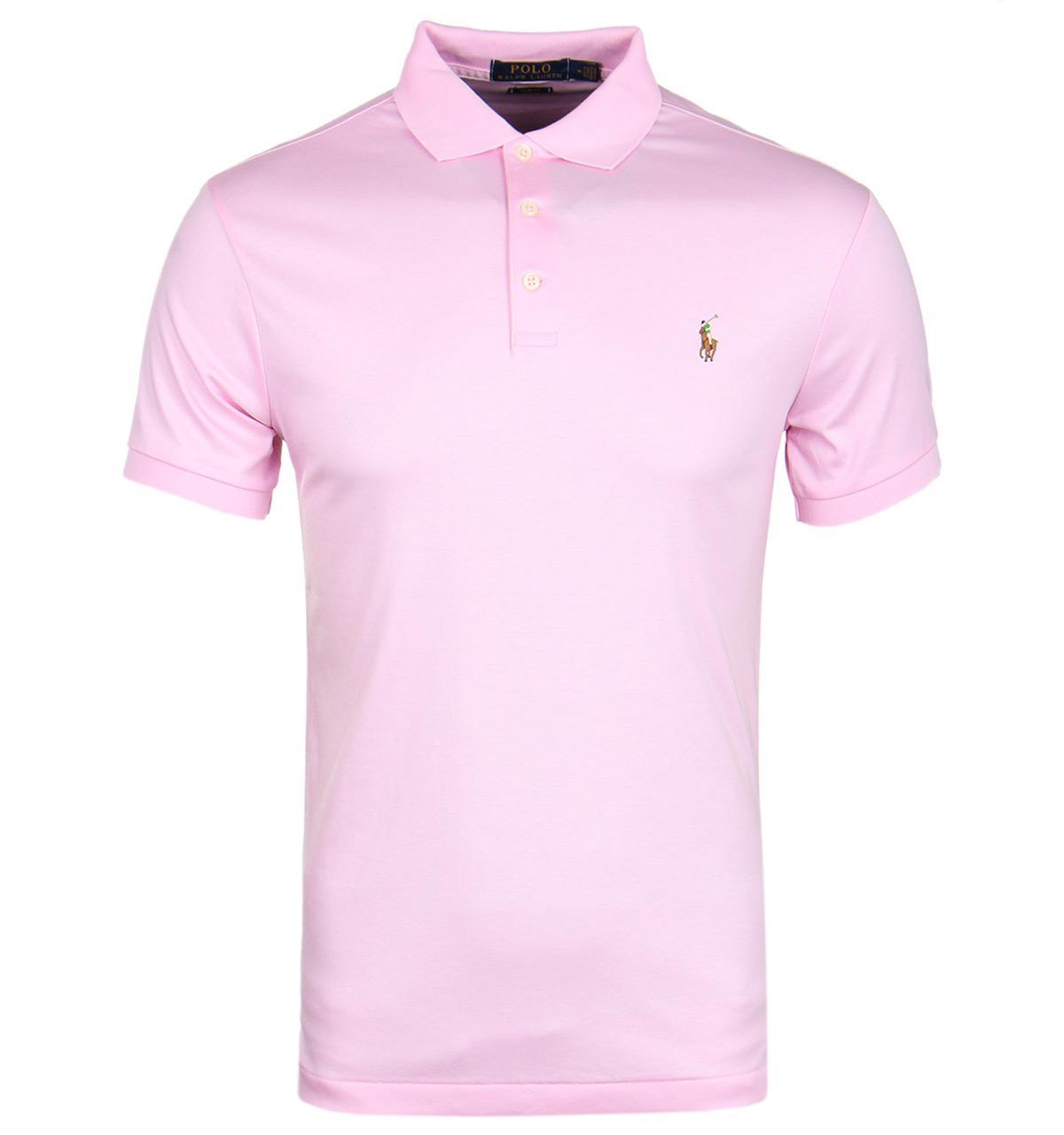 Pink Men Lauren Shirt For Fit Bath Polo Ralph Slim wn0OP8k
