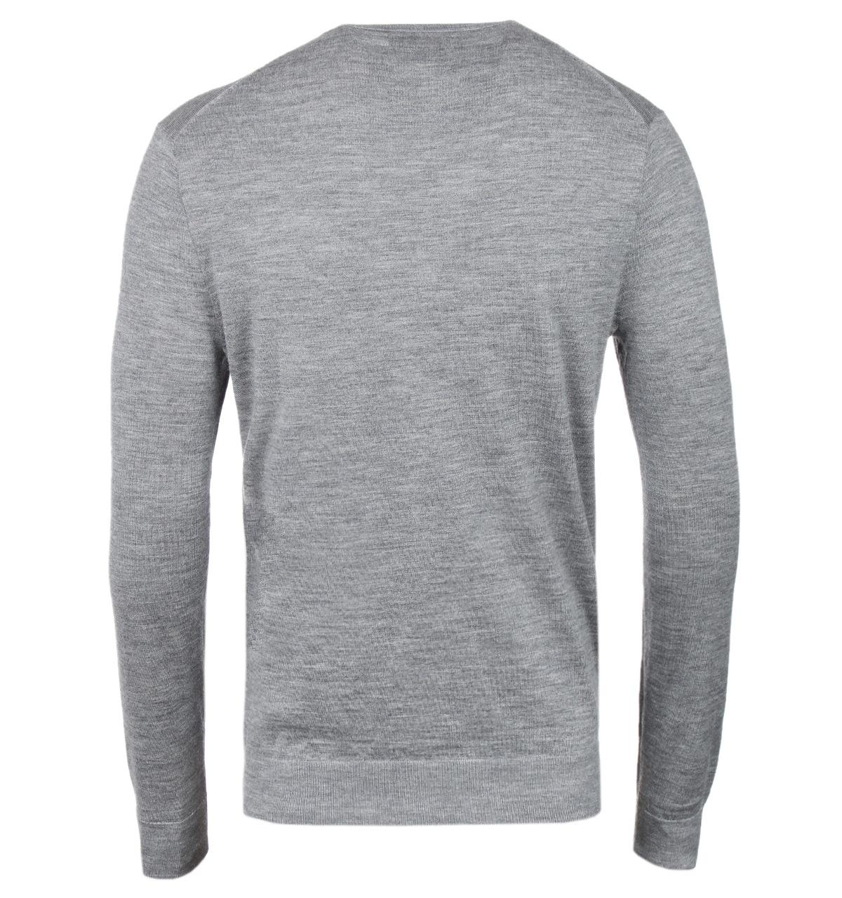 Polo Ralph Lauren Grey Merino Wool Crew Neck Knitted