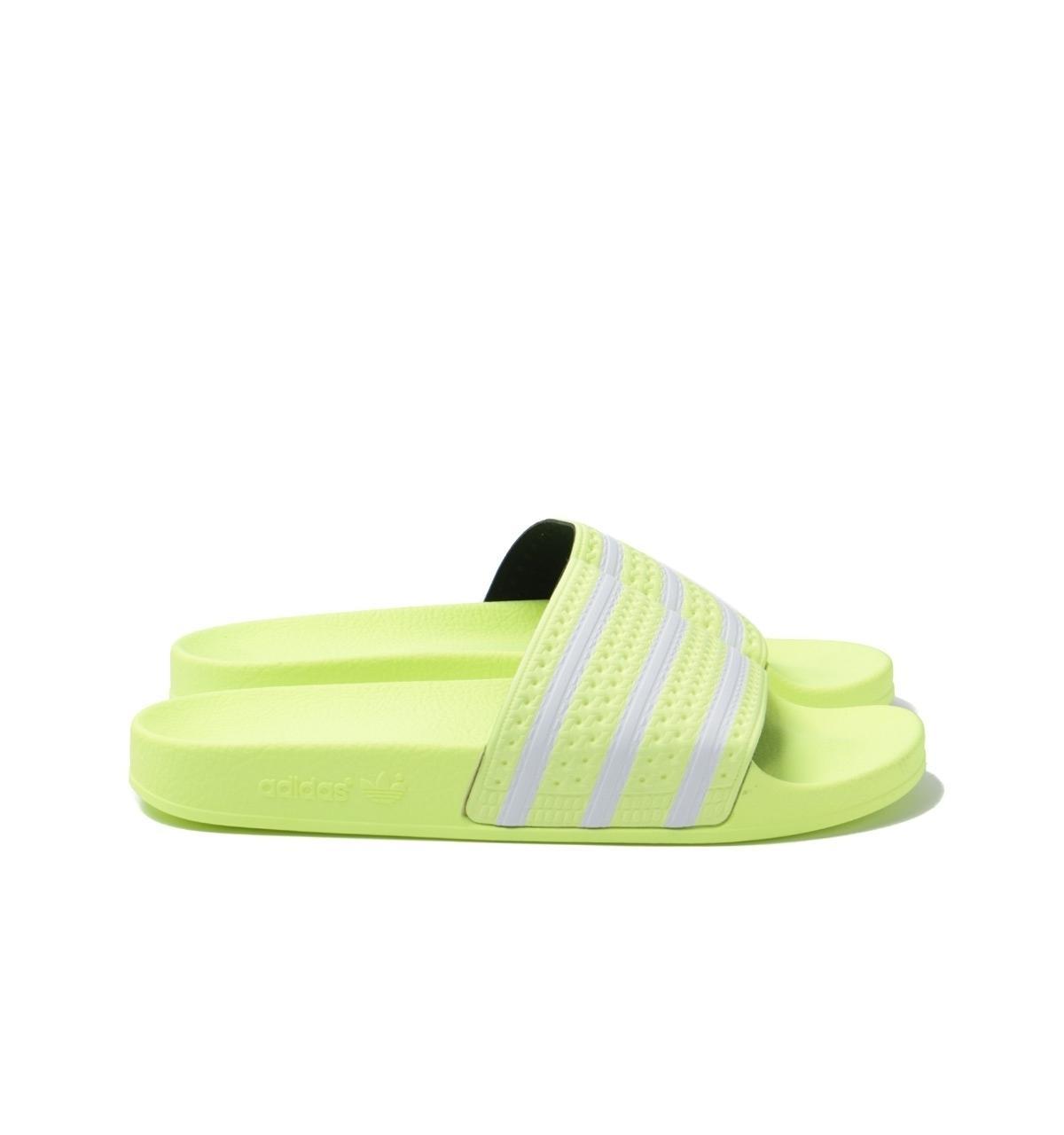 Adilette Neon Yellow Slides for Men
