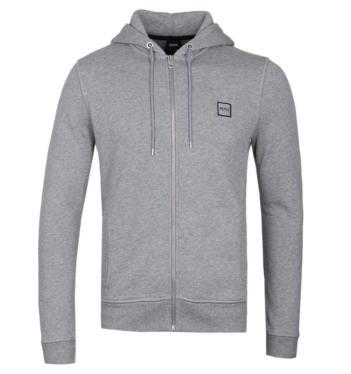 b8232b592 Lyst - BOSS by Hugo Boss Boss Znacks Grey Zip Hoodie in Gray for Men ...