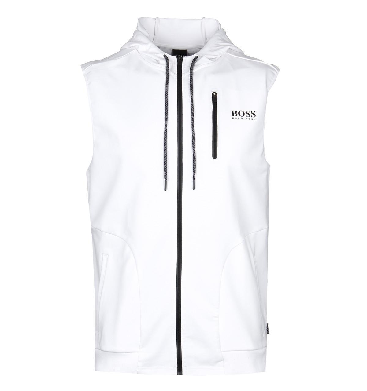 229c9635d2 BOSS by Hugo Boss Boss Hooded White Beach Vest for men