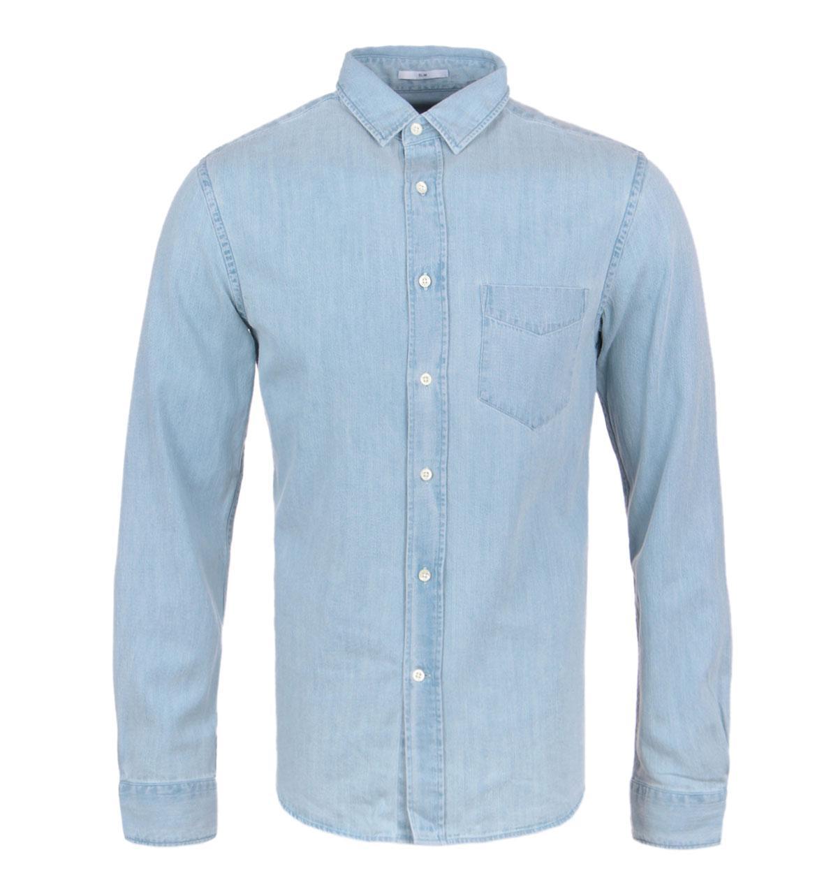 5fa5c504ed4 Gant Rugger Indigo Wash Blue Denim Long Sleeve Slim Fit Shirt in ...