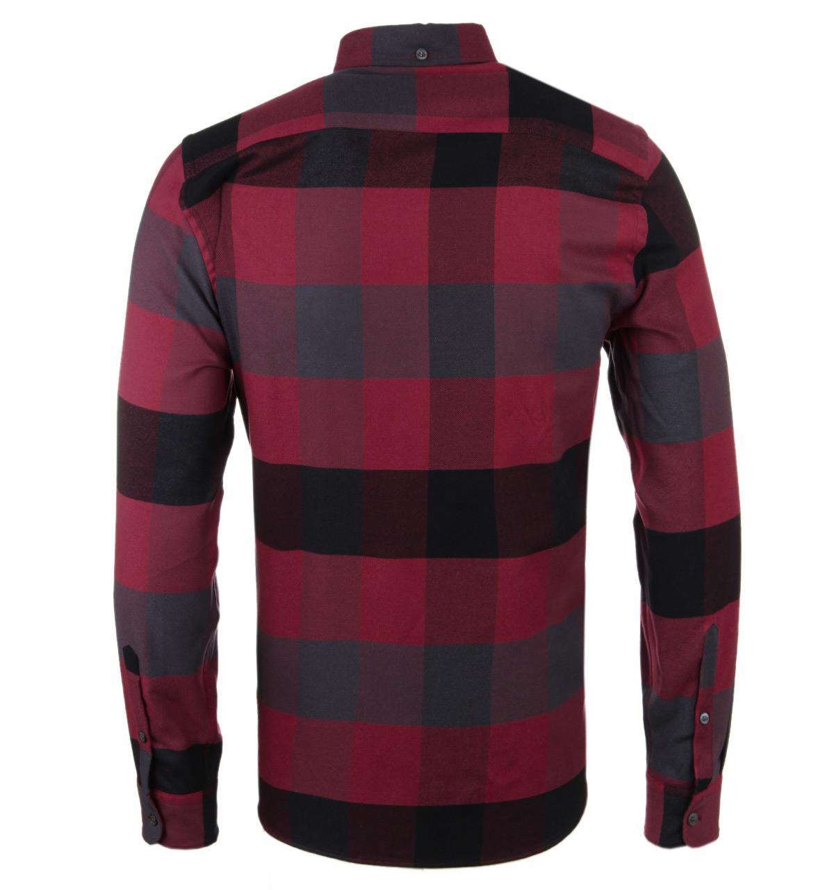 Aquascutum Rigby Red Mega Check Flannel Shirt for Men