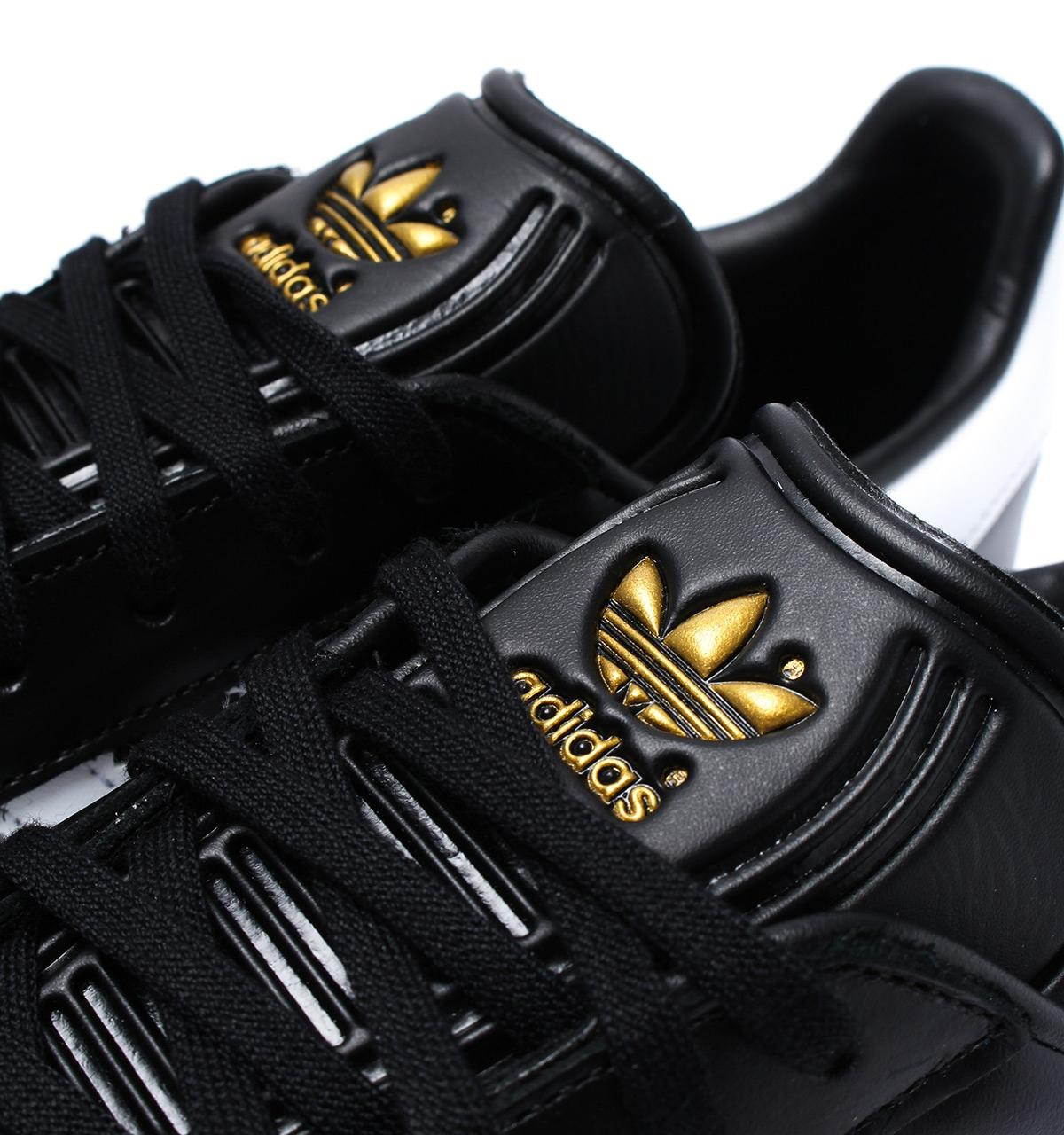 Leather Black & Gold Gazelle Trainers