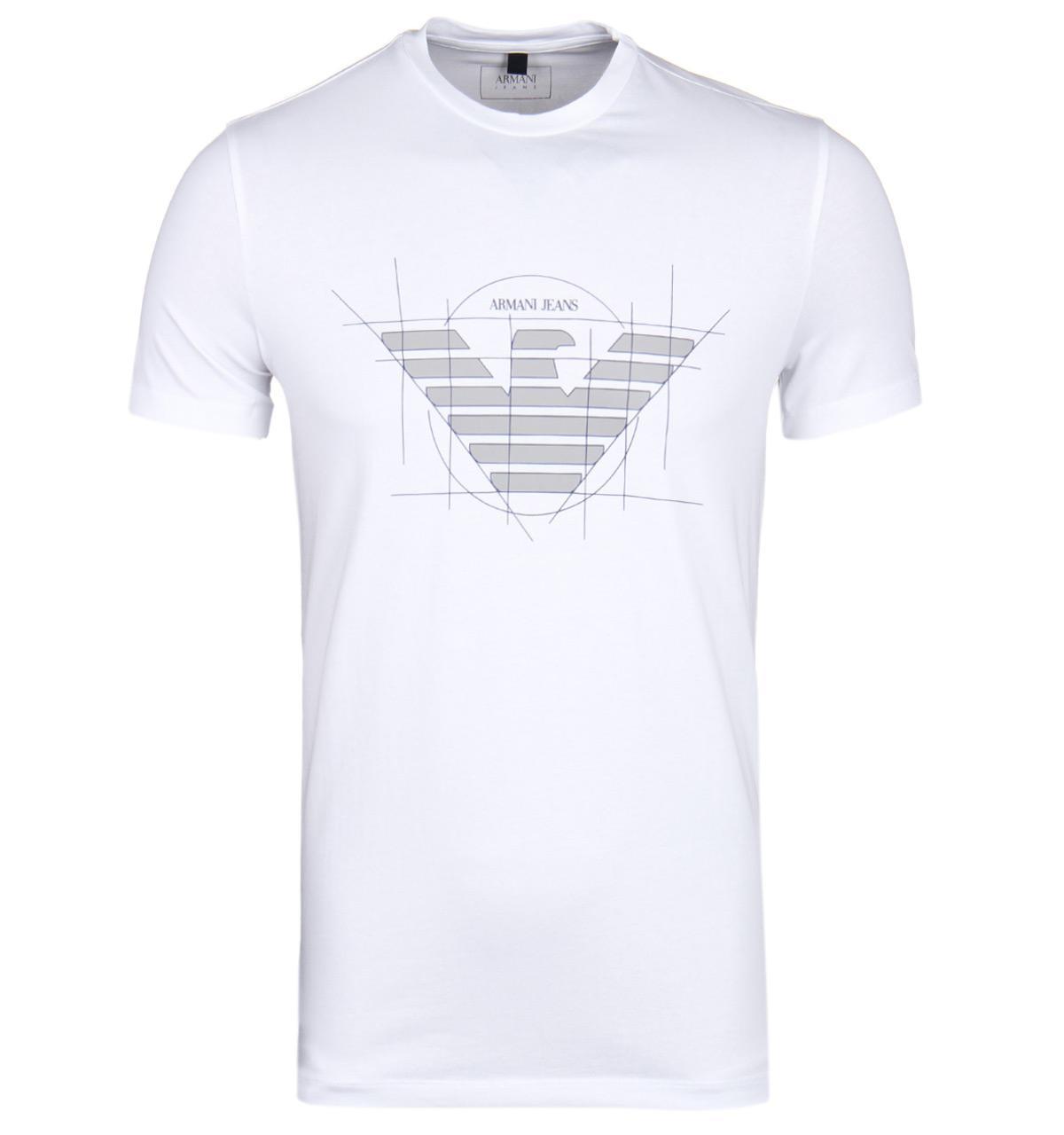 a90ecc12 Armani Jeans Crew Neck Aj Logo T Shirt White | Saddha