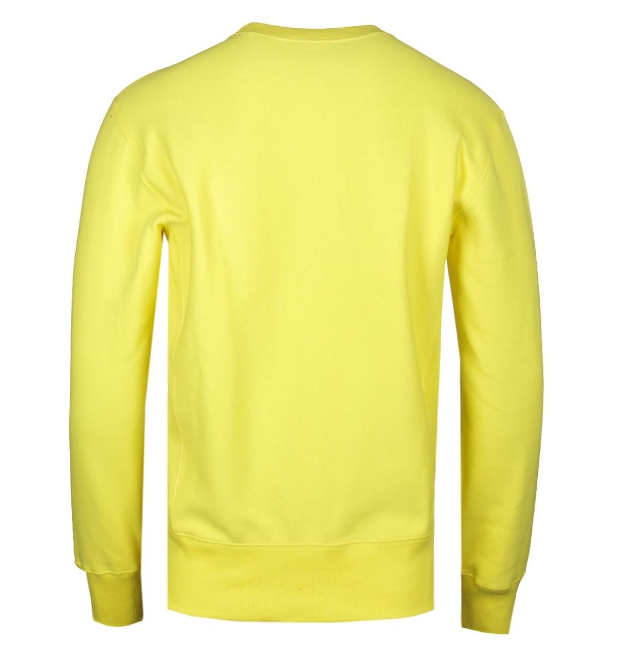 f013665cd9a1 Champion - Reverse Weave Yellow Sweatshirt for Men - Lyst. View fullscreen